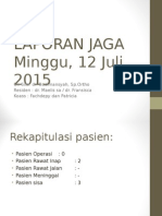 Laporan Jaga Minggu Juli 2015