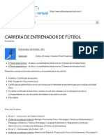 Carrera de Entrenador de Fútbol