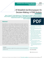 Effects Of Modafil And Bromazepam On Decision-Making
