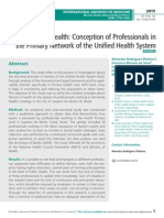Equity in Health, Conception of Professionals in the Primary Network of the Unified Health System.