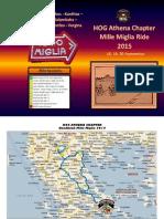 HOG ATHENA CHAPTER Roadbook Mille Miglia 2015