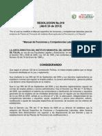 Manual_de_funciones y Competencias Laborales Imder Resol No.010 de 013.