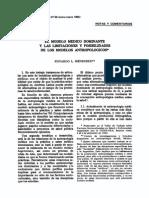 MENÉNDEZ - El Modelo Médico Dominante y Las Limitaciones....