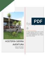 Ficha Técnica Para Inventario Fotográfico Hosteria Sierra Aventura