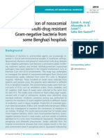 Isolation of nosocomial multi-drug resistant Gram-negative bacteria from some Benghazi hospitals