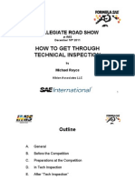 How to Get Through Technical Inspection by Michael Royce