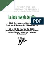 La Falsa Medida Del Nino Centro Escolar Hermanos Revuelta