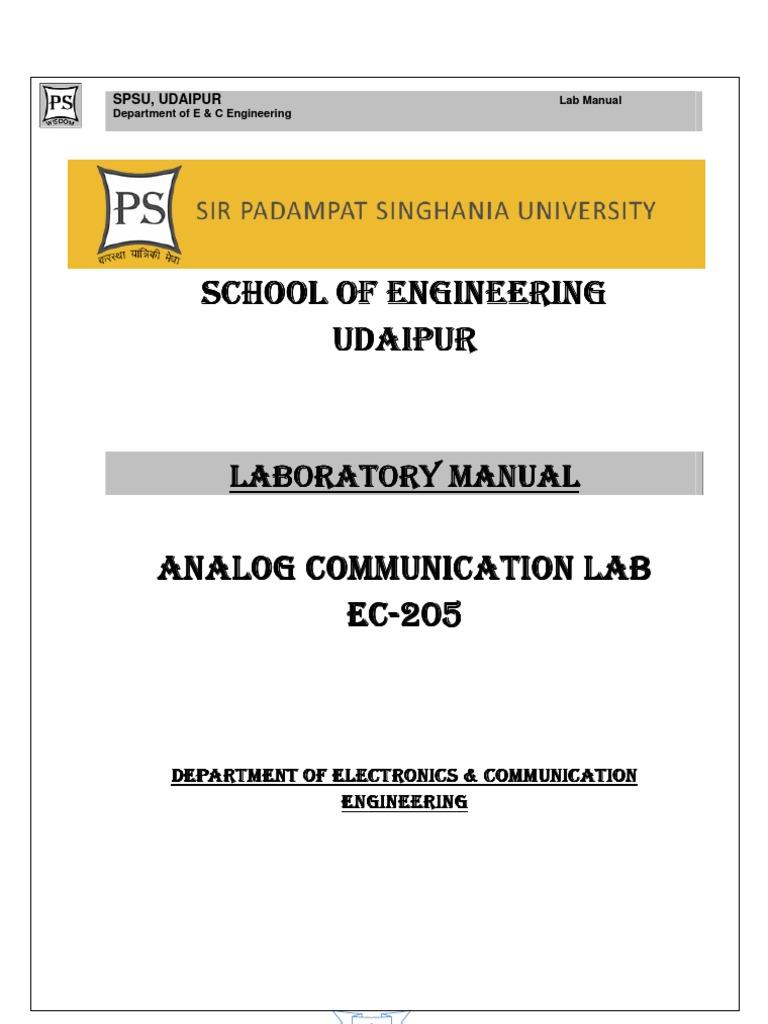 Communication systems lab manual | Parameter (Computer Programming) |  Matrix (Mathematics)