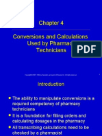 Conversions and Calculations Used by Pharmacy Technicians