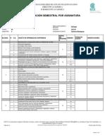 Dosificacion Semestral Asignatura Biologia 1 2015