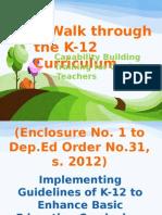 A Walk Through the K-12 Curriculum
