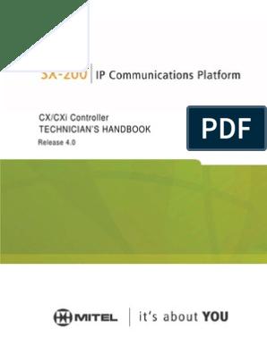 Mitel SX-200 Technician's Handbook/Service Manual | Ip
