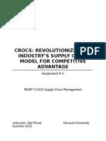 Crocs Evolutionary Supply Chain