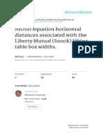 1997 - Potvin & Bent - NIOSH Equation Horizontal Distances Associated With the Liberty Mutual (Snook) Lifting Table Box Widths