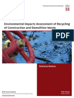 Environmental Impacts Assessment of Recycling of Construction and Demolition Waste