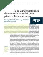 Morfosintaxis en SD (Porsiaca)