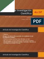 PPT Artículo de Investigación Científica