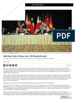 With Fast-Track in Place Can a TPP Deal Be Struck