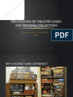 organization of tabletop games-personal collections