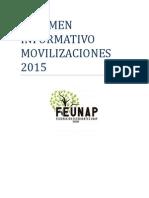 Resumen Informativo Movilización 2015.
