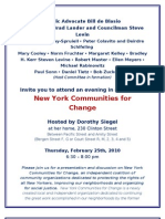 New York Communities for Change Invite