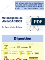 Metabolismo de Aminocacidos