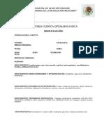 Historia Clinica Oftalmo