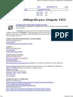 Abogacia - Bibliografia Toda La Carrera - (Bibliografía Para Abogacía- UE21)