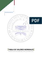 Tabla de Valores Normales Booksmedicos.org