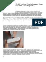 Stampante EPSON SX400. Problemi Vittoria Stampa A Causa Vittoria Cartucce Compatibili E Non Originali?