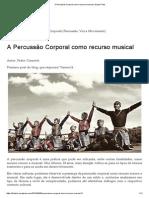 A Percussão Corporal Como Recurso Musical _ Grupo Fritos