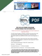 Electrical District 3 - Solar DG