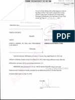 Order Extending Time Document