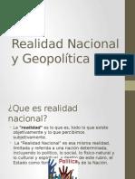 Realidad Nacional y Geopolitica
