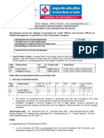 Notification Central Bank of India Credit Officer Posts