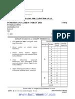 Mathematics Form4 Akhirtahun 2011 Serawak p2 Ans