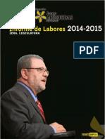 Informe de Labores del diputado Jorge Arguedas Mora 2014 2015 - 1era Legislatura.pdf
