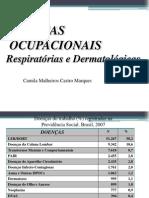 Doenças Ocupacionais Vias Aereas Inferiores e Dermatoses