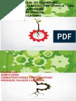 quimica verde / prevenção de poluição / combustiveis fosseis x biocombustiveis