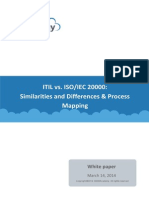 White Paper ITIL ISOIEC 20000 Similarities and Differences Process Mapping En