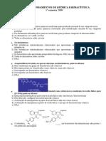 Prova de Fundamentos de Química Farmacêutica