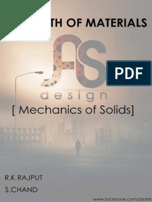 Strength of Materials Mechanics of Solids r k Rajput s Chand