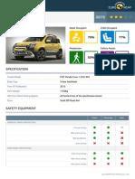 Euroncap 2015 Fiat Panda Cross Datasheet