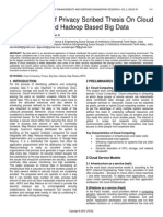 A Framework of Privacy Scribed Thesis on Cloud Environment and Hadoop Based Big Data