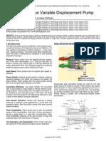 Adjustable Stroke Variable Displacement Pump