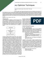 Different SQL Query Optimizer Techniques