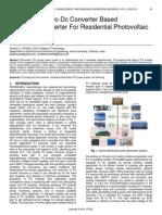 Mppt Enabled Dc Dc Converter Based Bidirectional Inverter for Residential Photovoltaic System