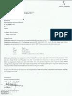 Surat Pemberitahuan Ijin Pengecoran