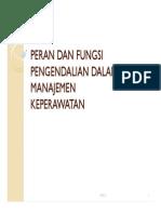 Microsoft Powerpoint - Peran Dan Fungsi Pengendalian Dalam Manajemen Keperawatan [Compatibility m