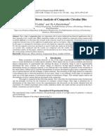 Experimental Stress Analysis of Composite Circular Disc